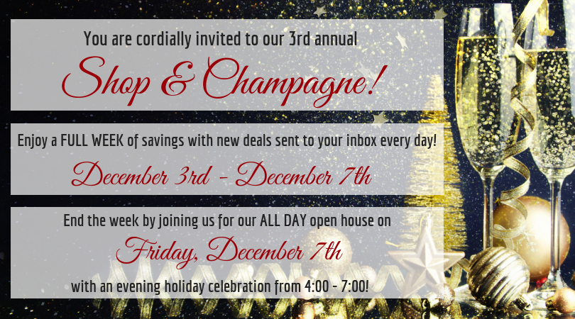 Third Annual Shop and Champagne