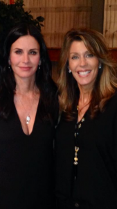 Meeting Courtney Cox on the set of Cougar Town in Los Angeles