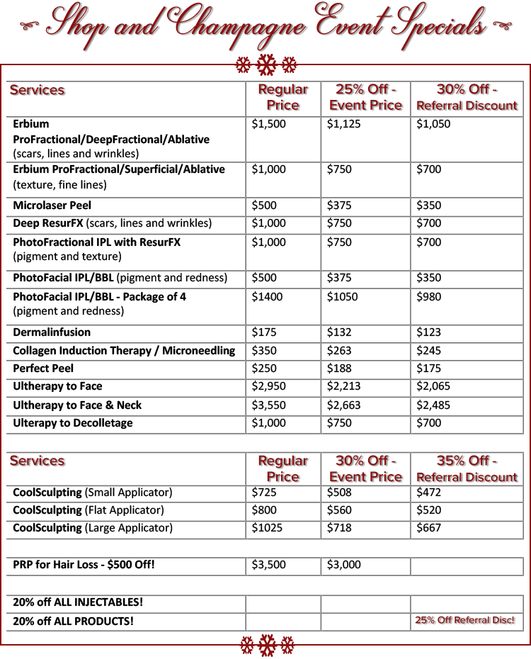 event-speicals-pricing-sheet