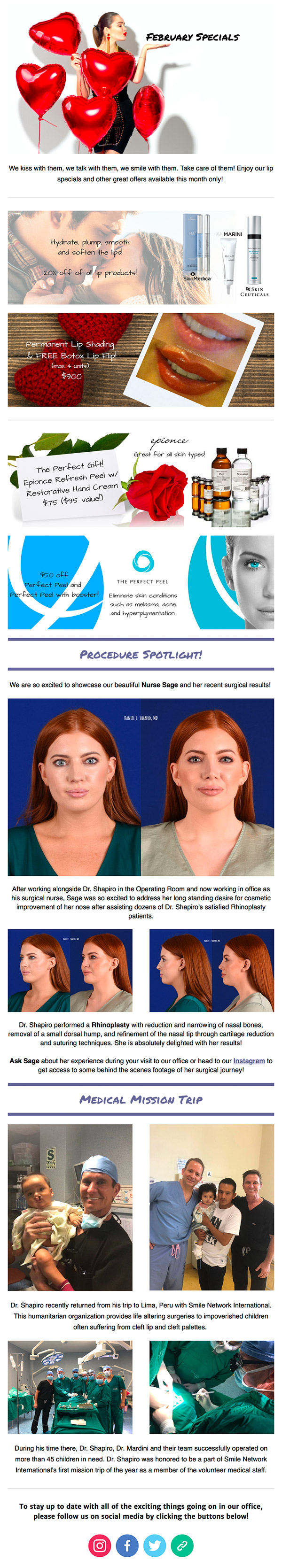 Newsletter, Shapiro Plastic Surgery